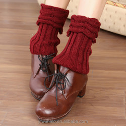 beautiful girl school keep warm fashion knitted gaiters