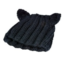 UNISEX Men & Women Star Knit Hat Skull Cap Ski Knit hat with cat Ear SV010873