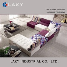 LK-LS1508 New design cheap modern purple sectional sofa