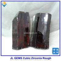 Wholesale Wuzhou Gems Synthetic Garnet CZ Rough & Raw Material