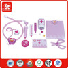 Role play items little bee doctor set 13 pcs children play toys safe wooden material doctor trolley play set