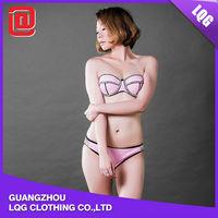 Hot sale new promotion pink white transparent bikini