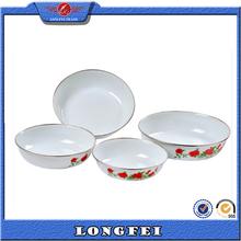Enrich your good life enamel fruit dish fruit plate