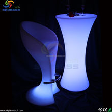 outdoor led bar tables and chairs/led table furniture