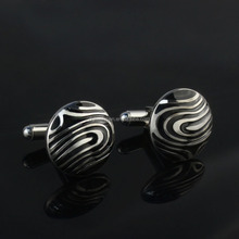 Fashion new design epoxy 316l stainless steel cufflink button