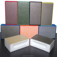 17 inch KGS diamond hand grinding and polishing tools best quality best performance pads for glass ceramic marble granite
