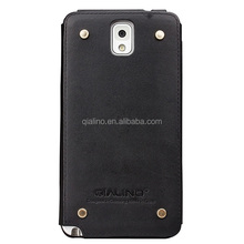 QIALINO 2015 genuine real leather phone back cover for samsung galaxy note 3