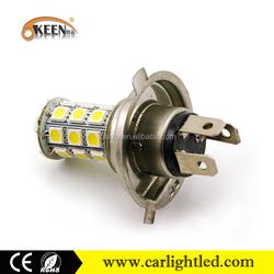 12v 5050 27smd car led h4 auto led lamp car lights bulb led headlight bulb h4 for car