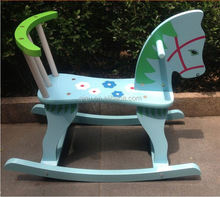 2015 new arrival Wholesale kids rocking horse wooden tops riding chair toys QQ-MT004