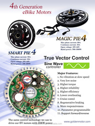 New Magic Pie4 /Smart pie 4 /New vector Sine wave 24V/36V/48V 250W/500W/1000w electric bicycle bldc motor, electric bicycle moto