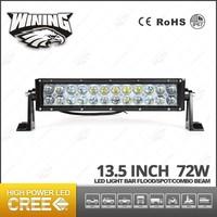 Wining Dual Row 13.5Inch 72W Straight LED Light Bar Waterproof 4WD Head Lamp High Power ATV Work Light Bar