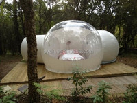 Garden Clear Inflatable Lgloo Tent with Rooms