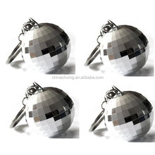 brand new high quality round split key rings with mirror balls decoration