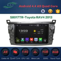 Android 4.4 Car audio stereo system/radio/dvd/gps navi for Toyota RAV4 2013