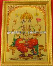 Gold foil religious supplier/god picture 3d gold foil picture frame