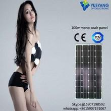 2015 Good Quality Low Price 100w High Efficiency Mono Solar Panel
