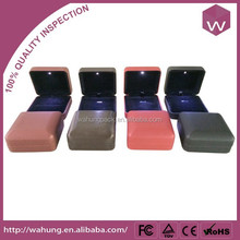 Mutil-Colored LED Jewelry Packaging Box & LED Light Jewelry Box For Ring