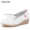 suave cuero genuino uniforme de enfermería zapatos blancos para nursed