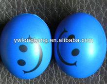 2015 Yiwu wholesale fashion pu smiley stress ball anti stress ball