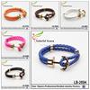 Factory Supply Hot Selling anchor leather bracelet fashion bracelet jewelry
