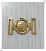 Newest design metal buckle/custom mini shoe buckle/gold buckle for coat belt