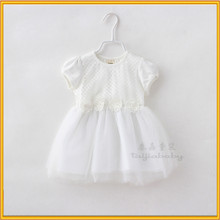 Korean style children dress baby girl summer dress baby girls birthday white color dress