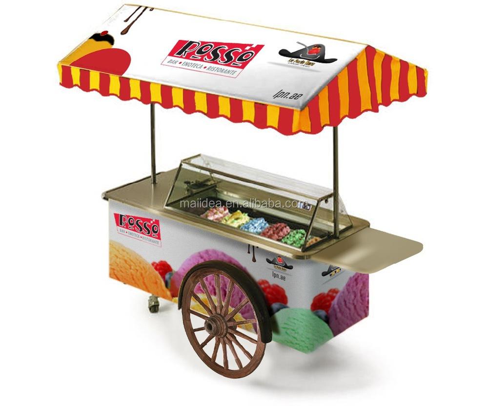 Italian Ice Cream Cart Mobile Ice Cream Cart Ice Cream