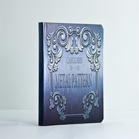 Silver card paper embossment pattern hardcover notebook