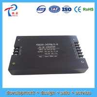 Input 48v (36-72vdc) Triple output 5v, 12v, 24v 300w in common ground dc dc converter/ smps/ switching power supply