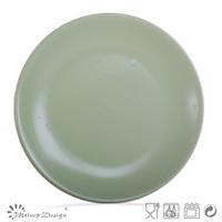 27cm matt green catering dinner plate