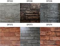 Howoo new design pvc wallpaper brick effect wallpaper grey