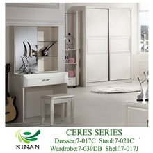 Pearl Color MDF Bedroom Dresser
