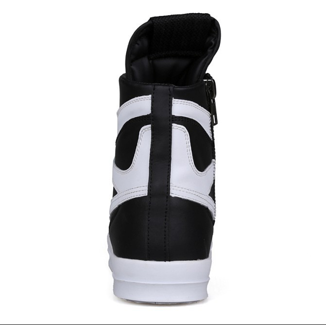 Free Shipping 2015 new fashion rick owen leather high-top male casual shoes side zipper rivet men\`s ankle boots flats Punk shoes-1 (9)