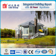Damp-proof and anti-theft light steel structure modular home luxury villa