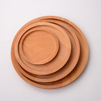 Custom wooden round cake pan pizza bread dish green wooden pallets Western tray wholesale fruit plate