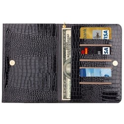 Crocodile Texture Flip Leather Universal Case for 7 inch Tablet with Lanyard