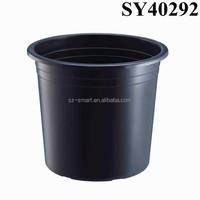 Cheap outdoor large black plastic planter pot