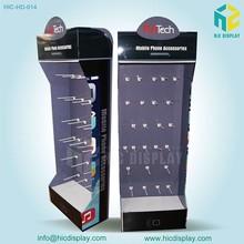 custom foldable pop cardboard cell phone accessory display rack