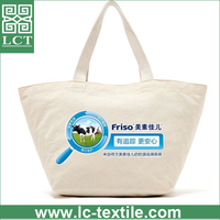supply 100% AZO free beige color natural cotton custom hot stamping canvas shopping bag tote bag for advertising gift(LCTB0119)