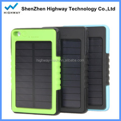 Extremely portable waterproof solar power bank Waterproof USB charger