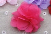 Custom chiffon flower clothing garment pin on corsage
