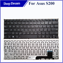 Replacement laptop keyboard US for asus S200 S200E X201 X201E black