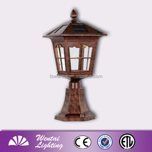 LED garden lamp solar fence light motion sensor outdoor led street light rising sun (E-1863F)