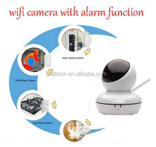 FDL-WF8 alarm security system video viewing by mobile rotating wireless ip camera alarm
