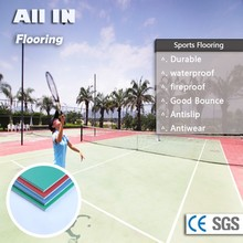 wholesale fire and water resistant anti dust pvc plastic sports flooring