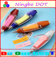 Cheap creative multifunction notes lamp promotion ballpoint pen in high quality
