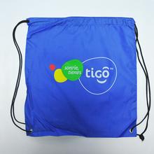 Small Size 210-Denier Sturdy Polyster Drawstring Bag With Company Logo