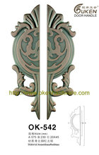 antique bronze hotel gate pull handle