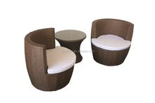 3pcs Aluminum set rattan Vase set wicker chair egg chair