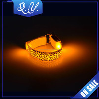 High Quality Nylon Armlet Jewelry Leopard Print LED Armlet China Manufacture